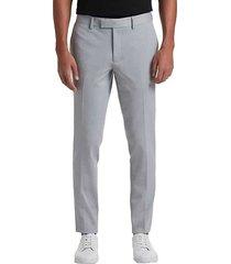 suitor men's light gray slim fit suit separates pants - size: 38