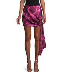 tie-dyed mini skirt