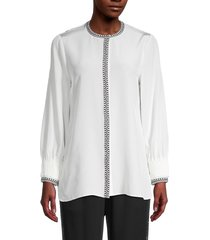 kobi halperin women's beatrice silk blouse - black - size xs