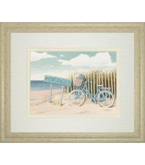 "classy art beach cruiser il by james wiens framed print wall art - 34"" x 40"""