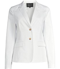 lafayette 148 new york women's thatcher stretch-cotton blazer - white - size 14
