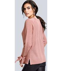 tröja med knytband alba moda rosa