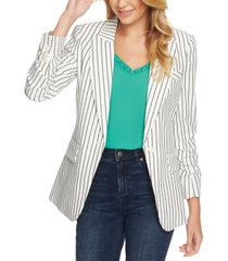 1.state striped one-button blazer