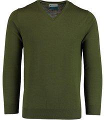bos bright blue aron v-neck pullover 20305ar21bo/360 moss
