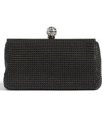 whiting & davis 'crystal' mesh clutch - black
