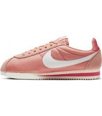 tenis rosa nike classic cortez nylon mujer