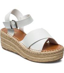 tineviel sandalette med klack espadrilles vit aldo