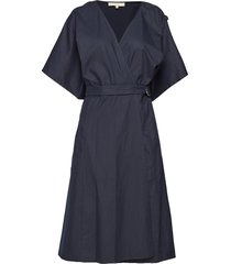 iron jurk knielengte blauw vanessa bruno