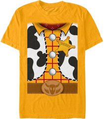 disney pixar men's toy story woody suit costume short sleeve t-shirt