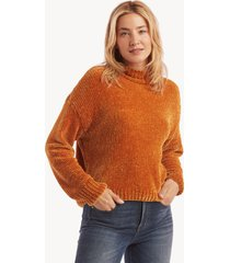 sanctuary women's chenille mock neck sweater in color: fools gold size xs from sole society