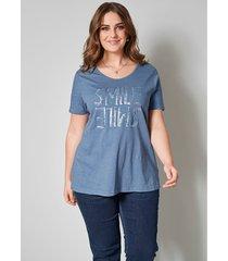 shirt janet & joyce blauw