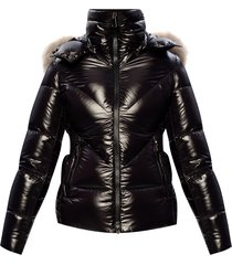 ribaudfur quilted down jacket