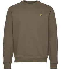 ripstop panel sweatshirt sweat-shirt trui groen lyle & scott