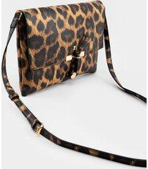 leona leopard hook crossbody handbag - leopard