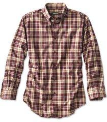 battenkill cotton blend long-sleeved shirt / regular, wine/natural, xx large
