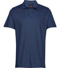 barrey poloshirt s/s polos short-sleeved blauw oscar jacobson