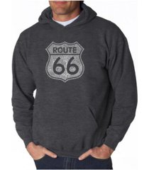 la pop art men's word art hoodie - route 66