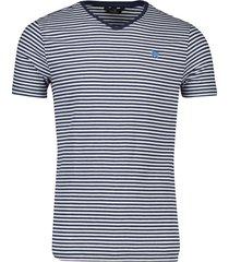 vanguard t-shirt blauw wit gestreept