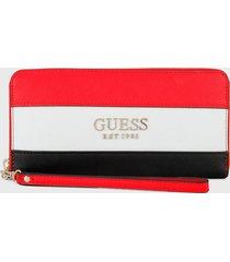 billetera rojo-negro-blanco guess