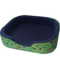 cama para perro tipo cuna mediana - verde
