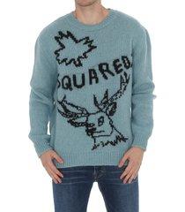 dsquared2 logo woolen pullover