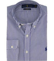 overhemd ralph lauren gestreept blauw wit slim fit