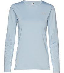 nora ls t-shirts & tops long-sleeved blå kari traa