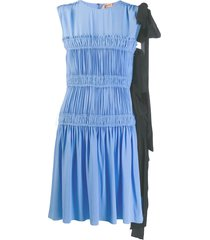 nº21 micro pleated mini dress - blue