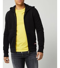 dsquared2 men's zip hoodie - black - s