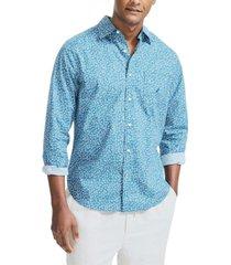 nautica men's classic fit floral print shirt