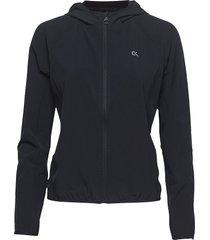 wind jacket logo, 00 outerwear sport jackets svart calvin klein performance