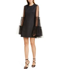 women's giambattista valli tulle cape overlay minidress