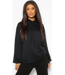 plus oversized hoodie, zwart