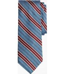 corbata herringbone stripe tie azul brooks brothers