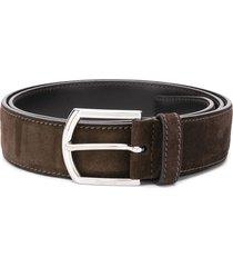church's buckled suede belt - brown