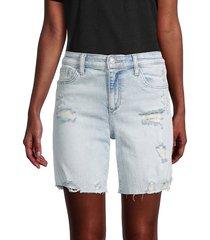 joe's jeans women's distressed denim shorts - commerce - size 29 (6-8)