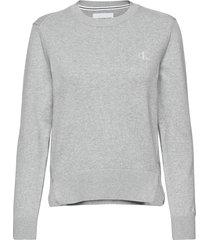 essential cotton sweater gebreide trui grijs calvin klein jeans