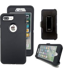 black defender case & belt clip (fits otterbox) for apple iphone 7+ plus