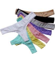 plus size cotton thong panties - 9 colors
