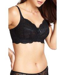 women's panache andorra wireless bra, size 38ff (5d us) - black