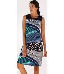 strandklänning sunflair blå::vit::svart