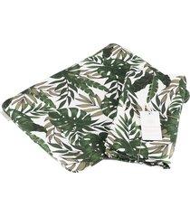 otulacz bambusowy z poduszką botaniczne liście