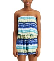 be bop juniors' strapless popover romper