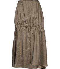 anzio knälång kjol grön totême