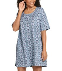 jockey plus everyday essentials cotton short sleeve sleep shirt nightgown