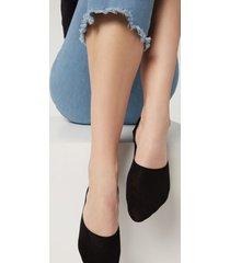 calzedonia unisex cotton invisible socks woman black size 34-36