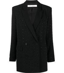 iro neill crystal-embellished blazer - black