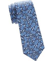 floral silk-linen tie