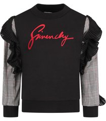 givenchy black girl sweatshirt with red logo