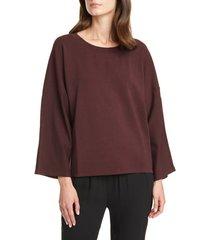 women's eileen fisher bell sleeve pullover